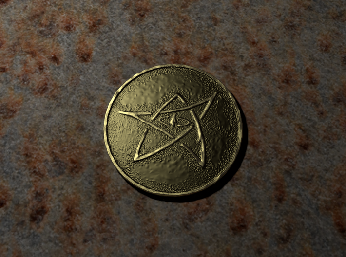 Elder Sign Coin 3d printed