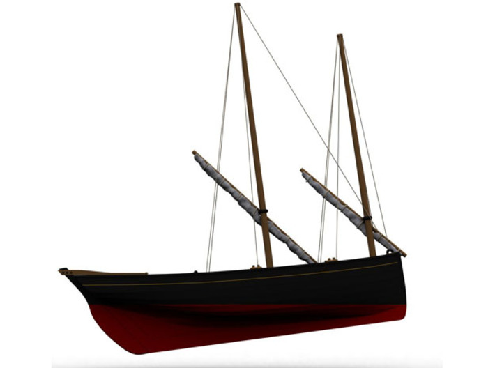 HObat51 - Old fishing boat 3d printed