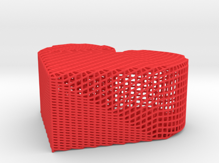 Heart Powder Box 3d printed