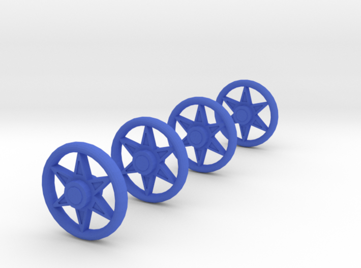4 Spoked Wheels for a Baby Carriage 3d printed