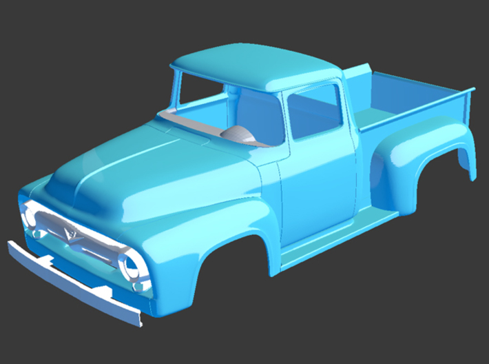 1956 Ford Pickup Bed 1/8 3d printed
