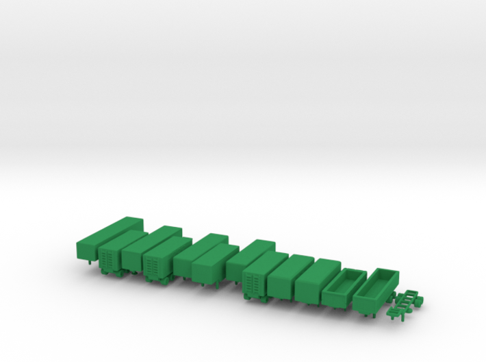 1/285 Scale Cold War SemiTrailers 3d printed
