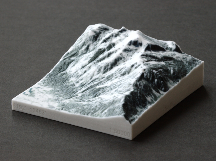 Jackson Hole in Winter, Wyoming, 1:50000 3d printed