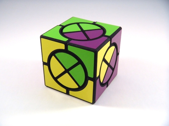 Circle X Cube Puzzle 3d printed One Turn