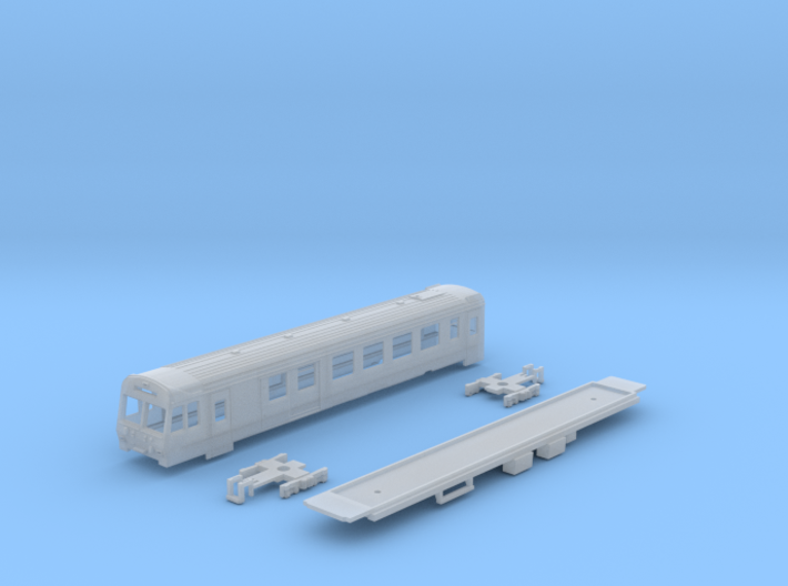 Passenger car type BDt-2 w/bogie 3d printed