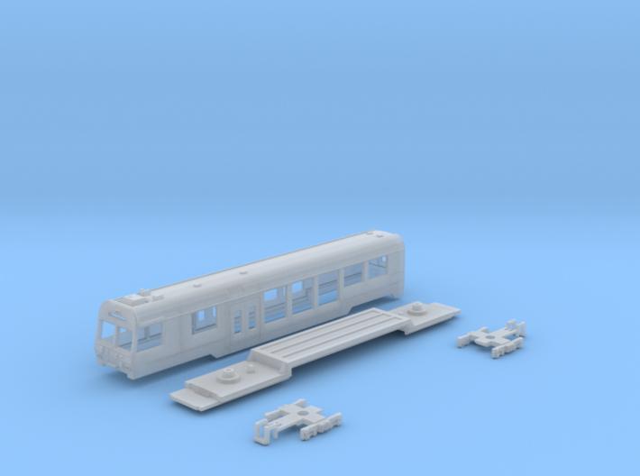 Passenger car type BDt-4 w/bogie 3d printed