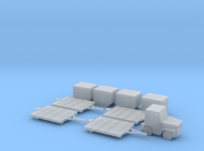 1:144 Air Cargo Set 3d printed