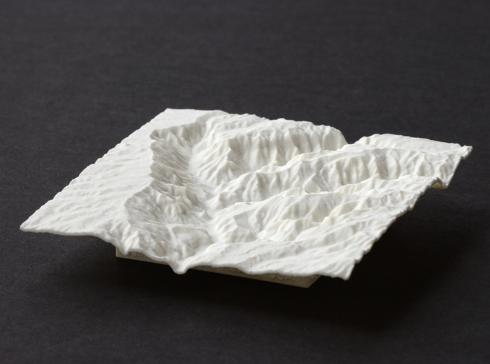 4'' Waimea Canyon Terrain, Hawaii, USA 3d printed