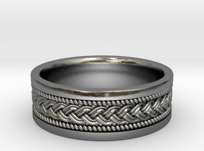 Braided Knot Ring 3d printed