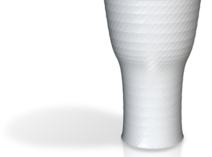 twisted black cap cup 1 3d printed