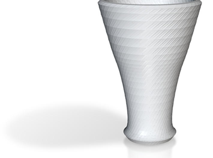 white cap cup 3 3d printed