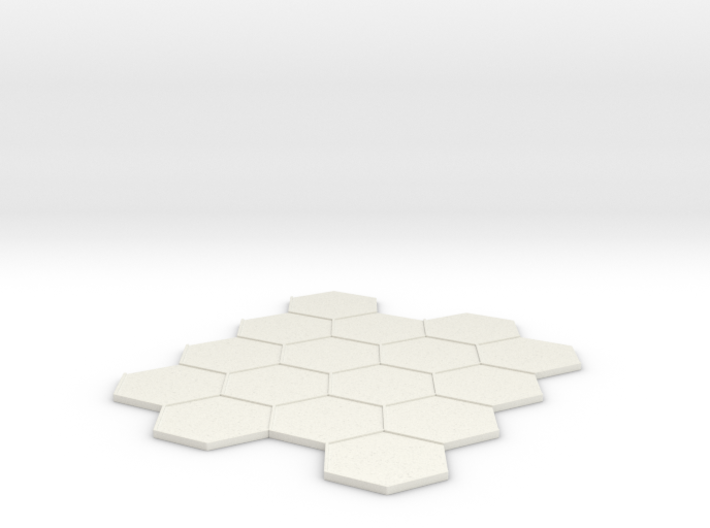 4x4 Hex Tile 3d printed