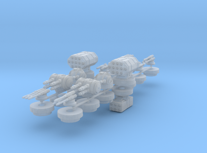 Turret Pack (X wing) 3d printed