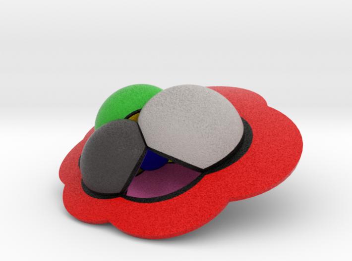 4D Regular Skew Polyehedron {6,4|3} 3d printed
