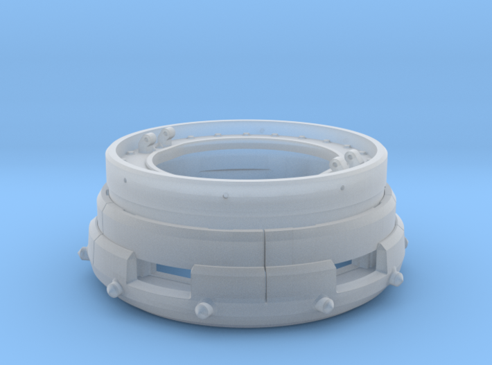 Panzer IV Ausf D Cupola Part A 1:16 scale 3d printed