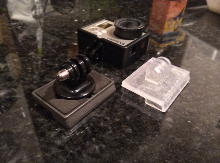 GoPro Quick Release Mount for Manfrotto Tripod 3d printed
