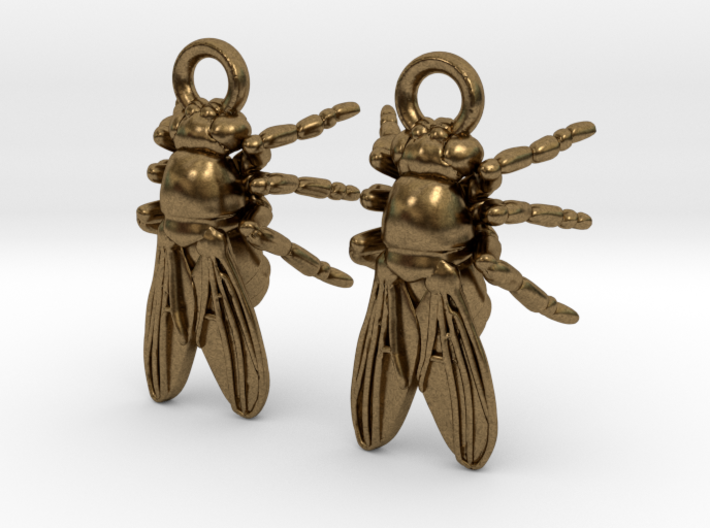 Drosophila Fruit Fly Earrings  3d printed