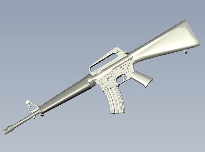 1/24 scale Colt M-16A1 rifle x 1 3d printed