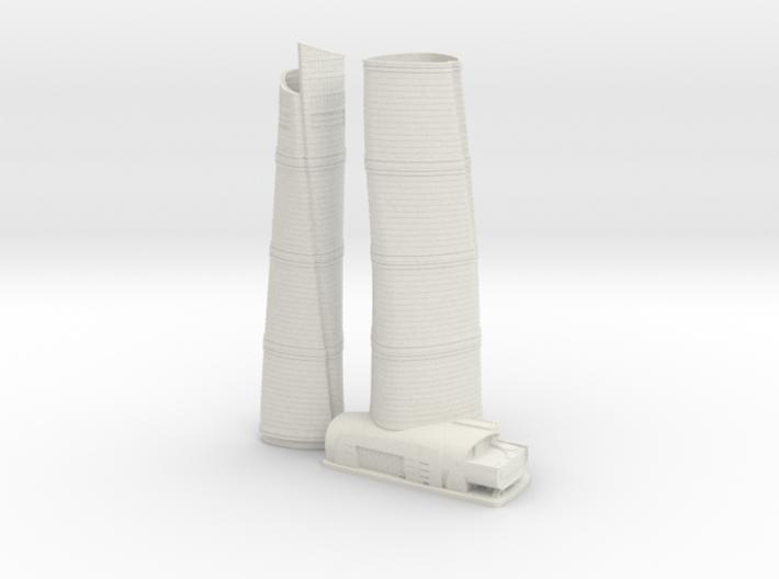 Shanghai Tower (1:2000) 3d printed