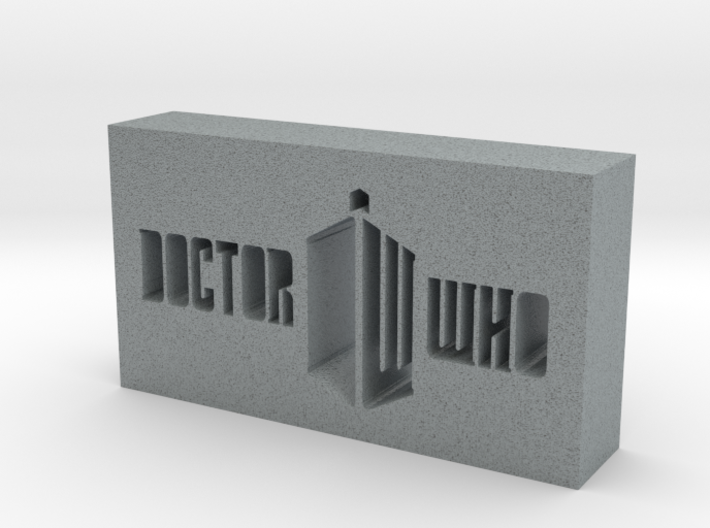 Doctor Who Logo 3d printed