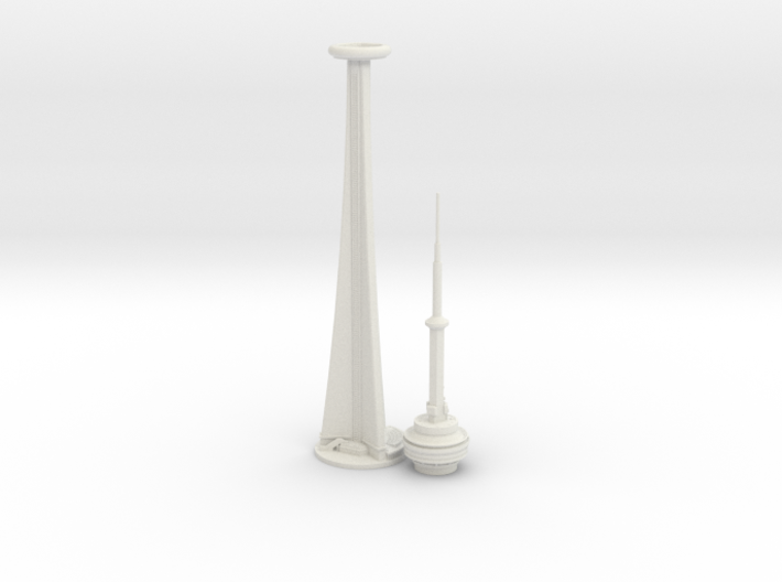 CN Tower (1:2000) 3d printed