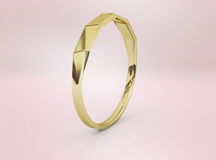 Light ring facets 3d printed