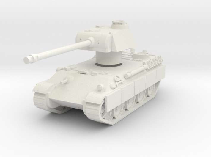 Panther tank Rotatable turret 3d printed