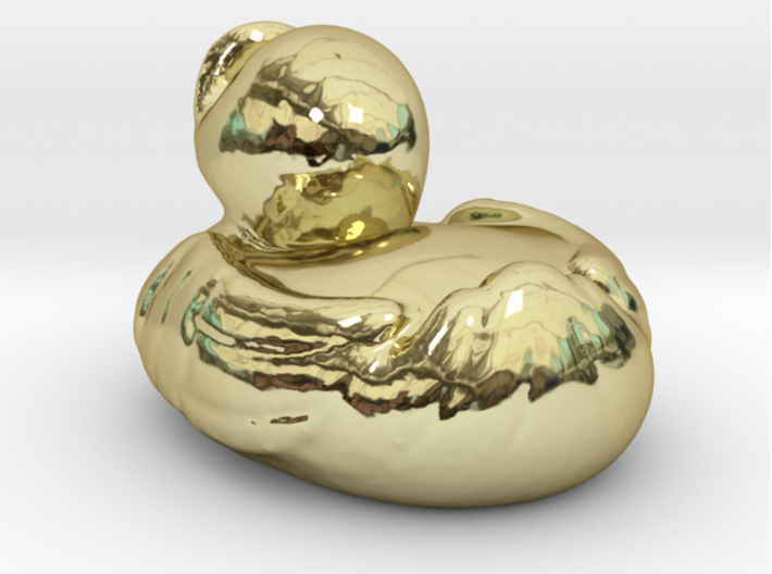 RUBBER DUCKY , 3-D PRINTED IN GOLD 3d printed
