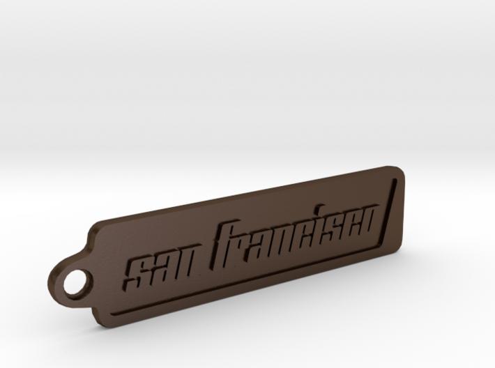 San Francisco, California Keychain 3d printed