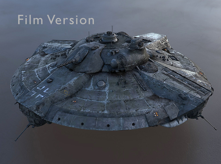 Valkyrie UFO from Iron Sky 2012 3d printed