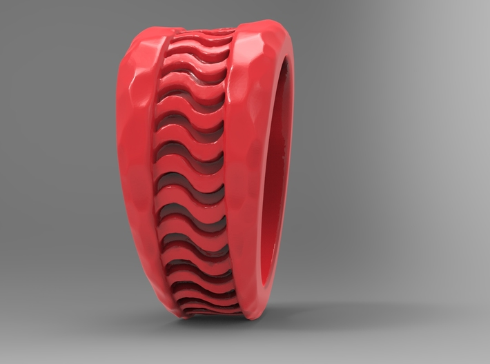 Wave Ring Pl 3d printed
