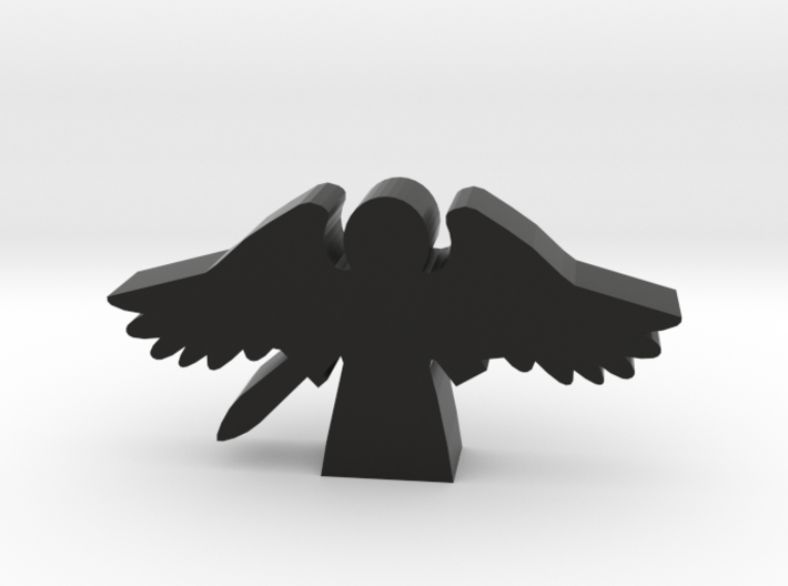 Game Piece, Angel with Flying Wings and Sword 3d printed