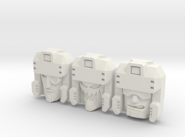 Blitzwing Face 3-Pack (Titans Return) 3d printed