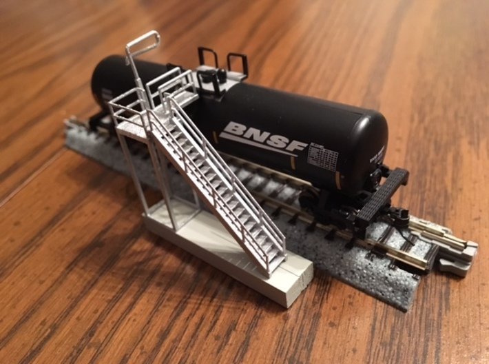 'N Scale' Ethanol Fill Station 3d printed