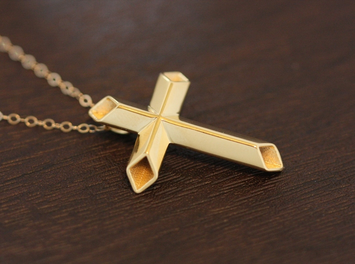 Diamond Hollow Cross 3d printed