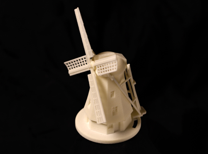 Dutch Windmill 3d printed Side view of Windmill