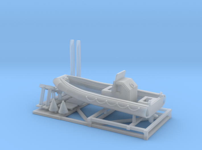 1/144 23 foot RHIB with stand 3d printed