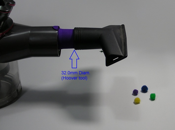 For Dyson V8 Adapter 32mm 'Standard' tools 3d printed