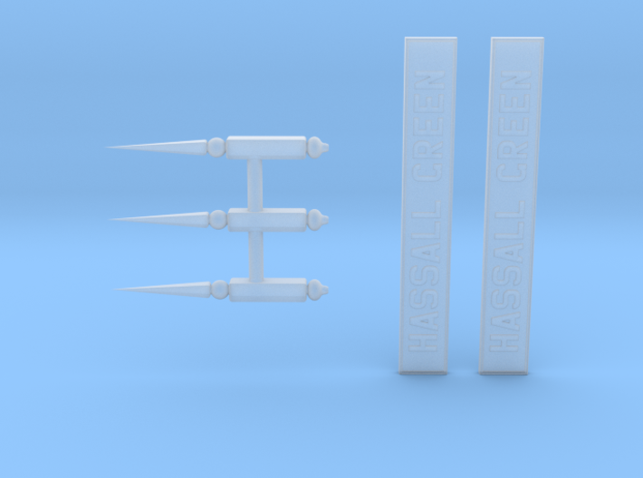 HG72 Finials & Nameboards 3d printed