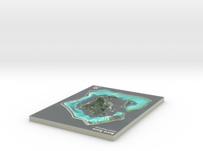 Bora Bora Map, French Polynesia 3d printed