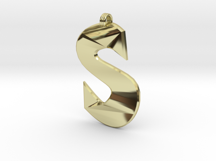 Distorted letter S 3d printed