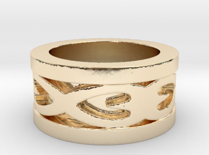 Hearts Ring 3d printed