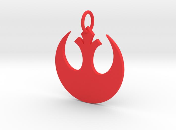 Rebellion Keychain 3d printed