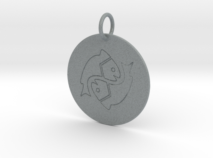 Pisces Keychain 3d printed