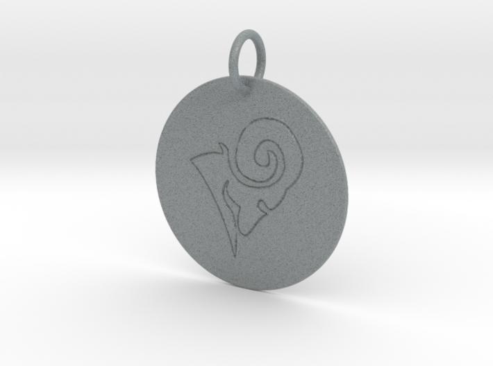 Aries Keychain 3d printed