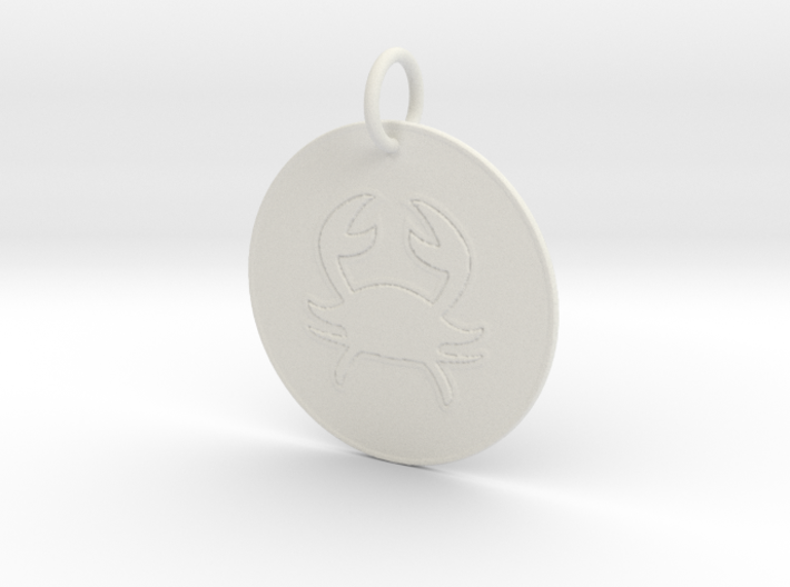 Cancer Keychain 3d printed