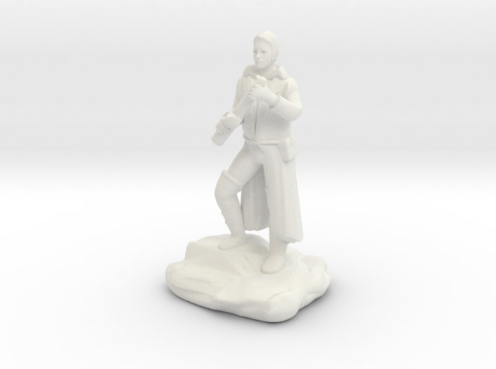 Halfling Rogue With Dagger 3d printed