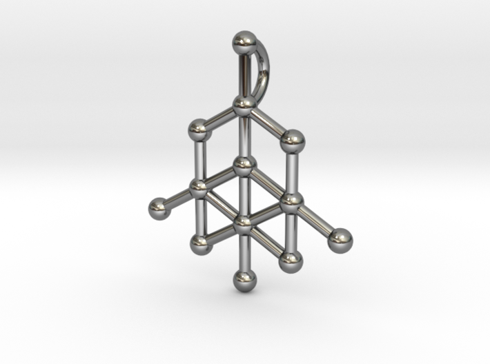 Diamond Molecule Pendant 3d printed