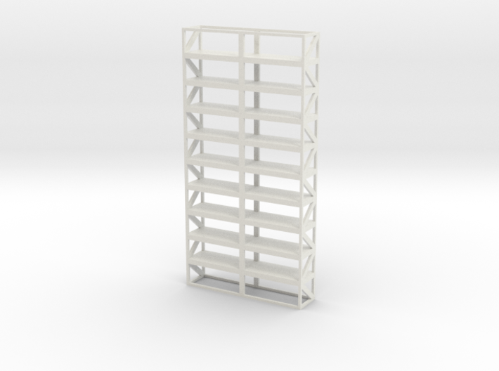 Industrial Shelf 5x10m scale 1-100 3d printed