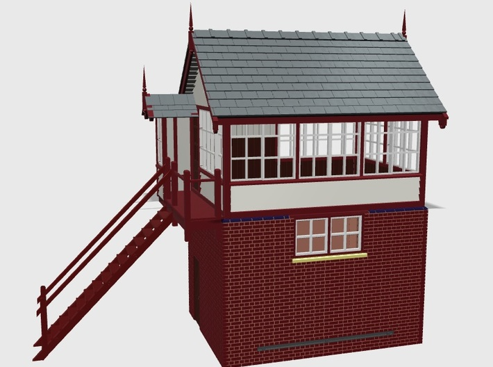 HG71 Hassall Green signal box 3d printed Front